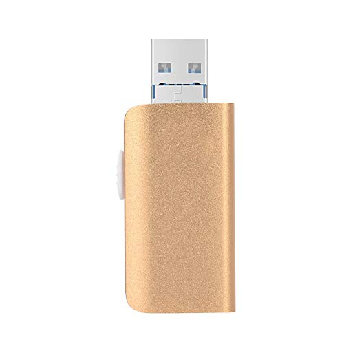 LIRONG 128G Flash Drive Photo Stick USB 3.0 voor IPhone, Android, USB Memory Stick Externe opslag USB Drive 3 in 1
