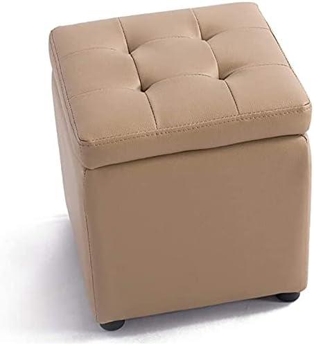 Footstool Sofa Stool Storage Ottoman PVC Footrest F free shipping Max 61% OFF Cube