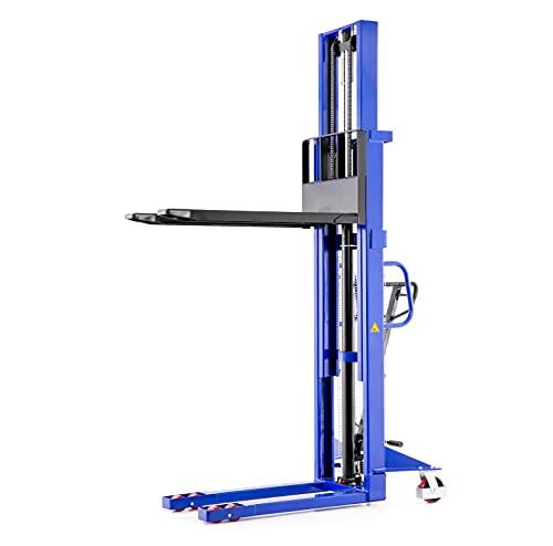 Impilatore a mano con carrello elevatore alto impilatore idraulico   Capacità di sollevamento 1,0t / 1000 kg - Altezza di sollevamento 3,0 m / 3000 mm - Lunghezza della forcella 1150 mm