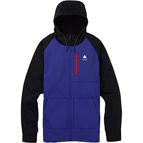Burton M MB Crown - Sudadera con capucha y cremallera completa Royal Blue – True Black S