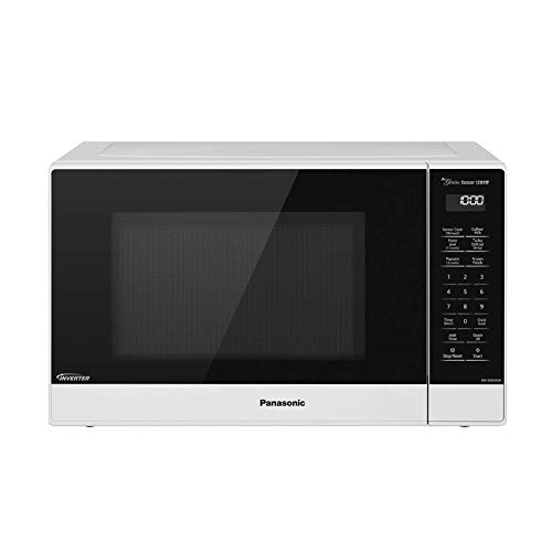 Panasonic Compact Microwave Oven with 1200 Watts of Cooking Power, Sensor Cooking, Popcorn Button, Quick 30sec and Turbo Defrost - NN-SN65KW - 1.2 cu. ft (White) (Renewed)
