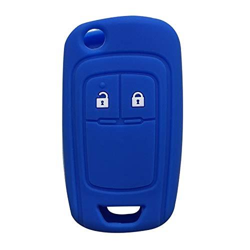 Funda de Silicona para Mando a Distancia del Coche para Vauxhall Opel Corsa Insignia Gel de sílice Linda Funda de Tapa para Llavero Alarma Azul