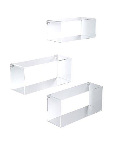 Wink Design, Angel, Set 3 Rettangoli, Trasparente, 50 x 100 x 30 cm