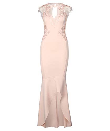 Lipsy London Damen Kleid Kurzarm Sand (21) 38