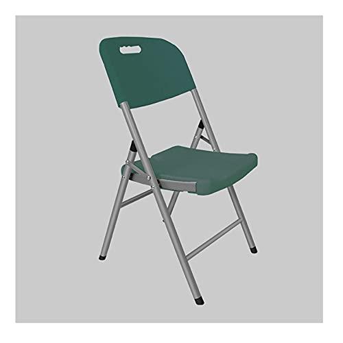 YAZHUANG8 PLÁSTICO PLÁSTICO PLÁSTICO DE PLÁSTICO/Silla DE Acero - Sillas Plegables de plástico sillas plásticas Plegables y apilables (Color : A)