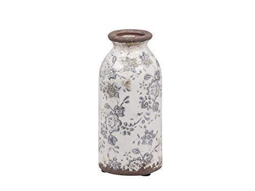 Chic Antique*Übertopf Flasche H16xØ8 cm Schale Melun Blue Vase Pflanztopf Übertopf