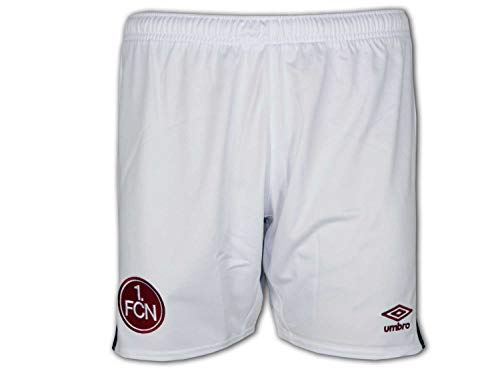 UMBRO 1. FC Nürnberg Away Short Junior weiß FCN Kinder Sporthose Club Turnhose, Größe:146
