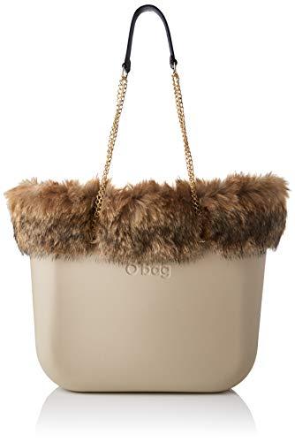 O bag Borsa Completa Obag 08, Bolso tipo tote para Mujer, Rosa (Sabbia), 14x31x39 centimeters (W x H x L)