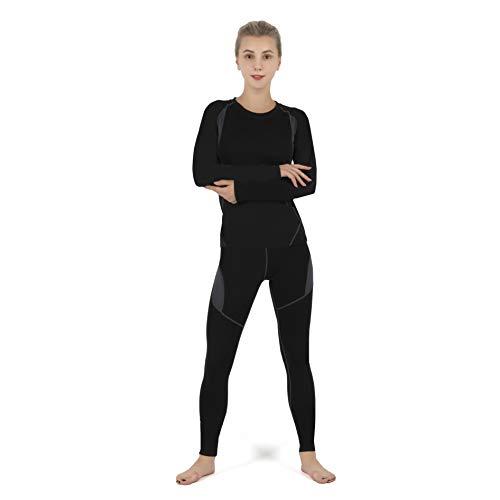 SAGUARO Conjunto Térmico Mujer Transpirable Ropa Interior Termica, Esquí y Funcional Pantalones Interiores Termicos