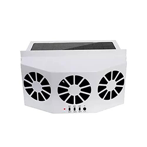 Yuvera Ventilador de escape solar para coche, ventilador de radiador de coche, ventilador de refrigeración universal portátil