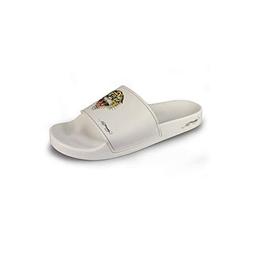 Ed Hardy Fierce White Slide Sandalen, Weiß - weiß - Größe: 40 2/3 EU