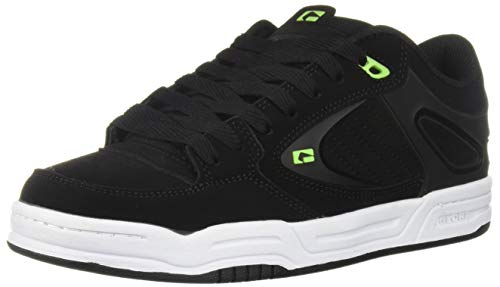Globe Men's Agent Skate Shoe, Black/Lime, 11.5 Medium US