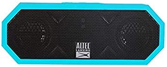 Altec Lansing IMW449 Jacket H2O 4 Rugged Floating Ultra Portable Bluetooth Waterproof Speaker with up to 10 Hours of Battery Life, 100FT Wireless Range and Voice Assistant Integration (Aqua Blue)