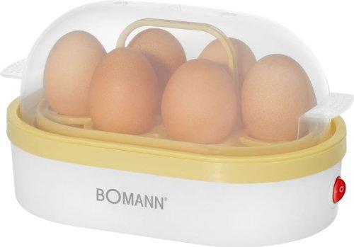 Eierkocher für 6 Eier 400 Watt ( Antihaft-Beschichtet, Summer, Kontrollleuchte, weiß-vanilla)
