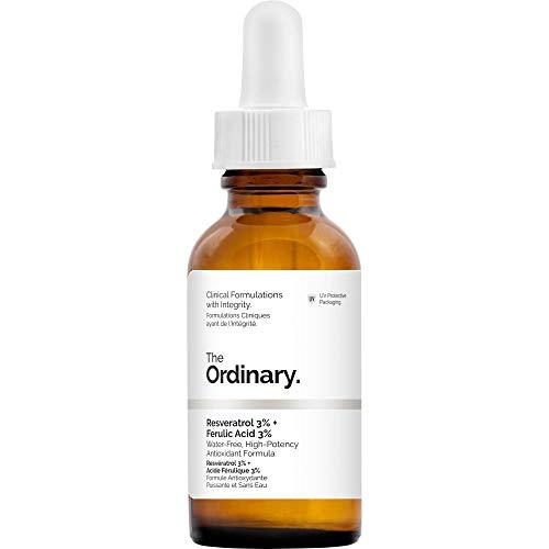 Sérum Facial Antioxidante Natural - Resveratrol 3% + Ácido Ferúlico 3% - 30 ml - The Ordinary