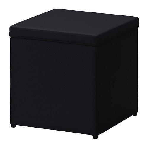 Ikea BOSNAS - Escabel con el Almacenamiento, Ransta Negro £ 15