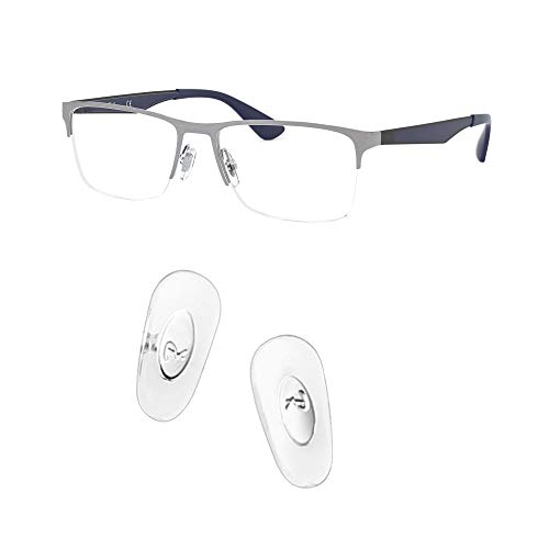 HiCycle2 ray ban 交換用ノーズパッドを押し込んで、レイバンRB6335サングラスレンズキット付きサングラス修理キットに適合 (銀色)