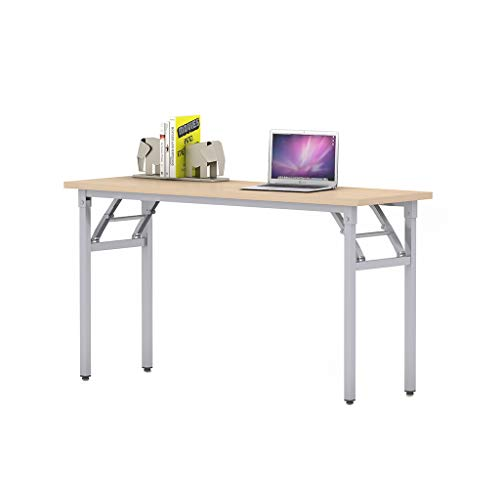 Sunon Folding Training Table Rectangle Wood Folding Table for Training/Meeting Room (60-Inch Length, Light Oak)