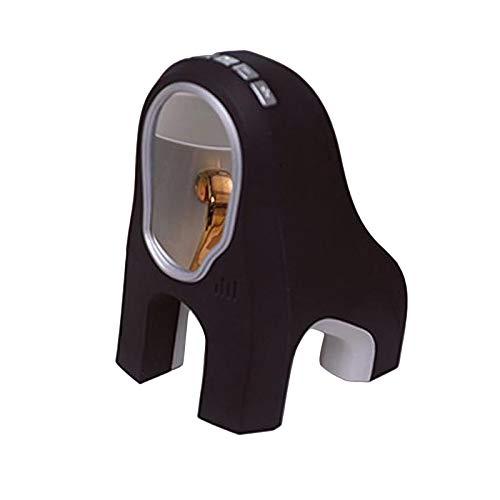 N/A/a Reloj Despertador Digital para Dormitorio, Oficina de Viaje, Estilo Minimalista Moderno, Pantalla LCD, Volumen, Repetición Ajustable, 12/ Y Mo - Negro, Individual