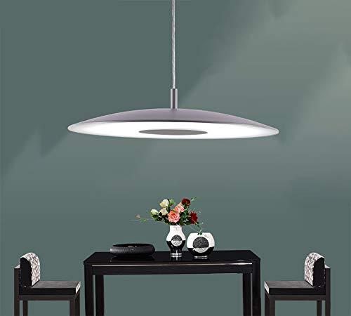 LED Pendelleuchte Esstischlampe Warmes licht Pendellampe Kronleuchter Grau Höhenverstellbare Hängelampe Wohnzimmer Deckenleuchte Küchenlampe Bürolampe Schlafzimmerleuchter Moderner Hängeleuchte Glas