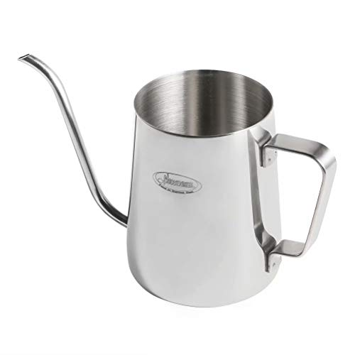 Newness Kaffeekessel 304 Edelstahl, Kaffeekanne Teekanne Kaffee Kettle mit Schwanenhals Schmaler Auslauf, Wasserkessel Tropfwasserkocher - Kaffee, Tee 1.37 Cup (11 Ounces, 330 Milliliter)