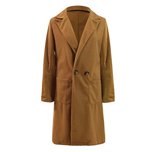 Women's Winter Wool Coats Long Double Breasted Dress Coat Jacket