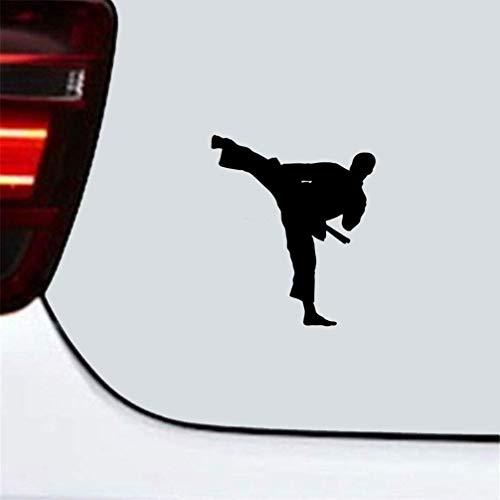 DKISEE Taekwondo Karate hübsch Junge Auto Aufkleber Auto Deko Zubehör Aufkleber für Auto Laptop Fenster Aufkleber