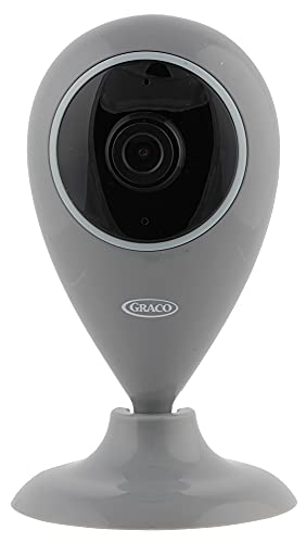 Graco Baby Smart Home Security Camera, Indoor Wide Angle WiFi Camera for Home Security with Night Vision, Motion Alerts, Two Way Communication, Pet and Baby Monitor Surveillance Camera (Grey)