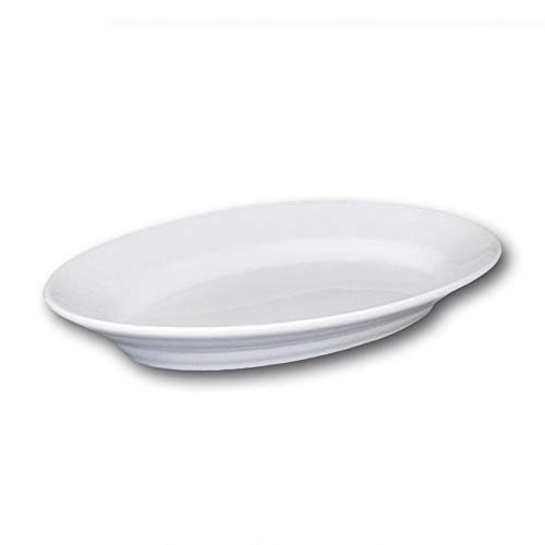 Plat ovale porcelaine blanche - L 38 cm - Tivoli