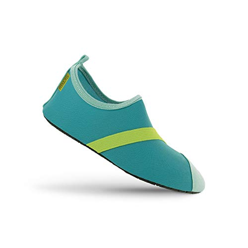 FitKicks Women's Active Footwear, Turquoise / Green, Large