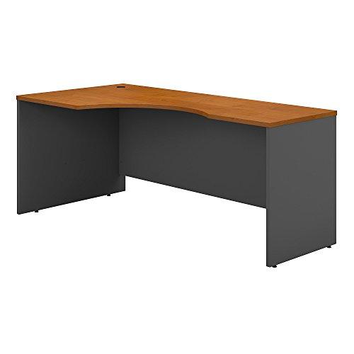 Bush Business Furniture Series C 72W Left Handed Corner Desk - Natural Cherry/Graphite Gray 71W X 35D X 30H ERGONOMICHOME BUSH BUSINESS FURNITURE