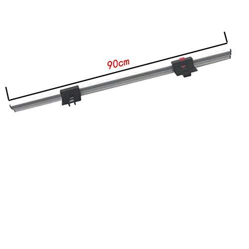 RONGSHU Camper-Accessoires, RV-Klapptisch-Beine Halter, Camper-Klapptisch Aluminium-RV-Wand-Anhänger-Klapptisch-Beinzubehör (Color : Rail and Hook)