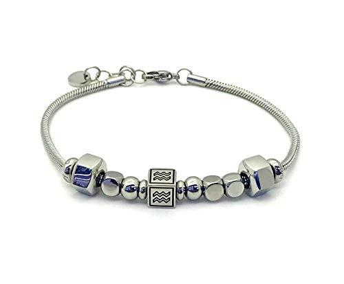 Brosway Jewels Herren-Armband TJMAN Sternzeichen BTJNS69 Aquarium teilbar