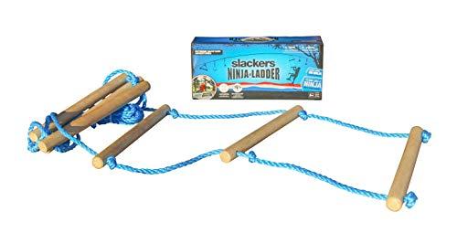Slackers USA Strickleiter, zusätzliches Tool für die Slackers Ninja Line, Schaukel, Klettergerüst, Baumklettern, über 2,5 Meter lang, 6 hochwertige Holzsprossen 38 cm breit, 980021
