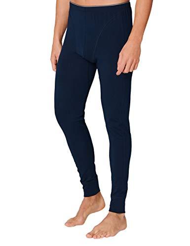 Schiesser Herren 95/5 Organic Cotton lange Unterhose, dunkelblau, L