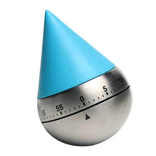 AIMILAR Mechanischer Küchen-Timbler mit Countdown-Timer, 60 Minuten, mechanischer Countdown-Timer, 1 Stunde zum Grillen blau