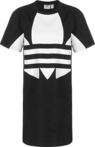 adidas Lrg Logo Dress Dress, Mujer, Black/White, 38