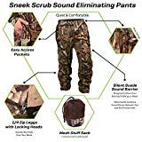 SneekTec Sneek Suit Pants - Sound Eliminating Camo Hunting Gear for Over Your Clothing (Pants, XL)