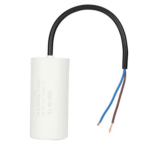 Condensador de funcionamiento de condensador de motor de plástico, condensador de funcionamiento de motor, blanco para compresores de aire acondicionado
