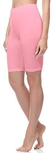 Merry Style Damen Kurze Leggings aus Baumwolle MS10-200 (Rosa, M)