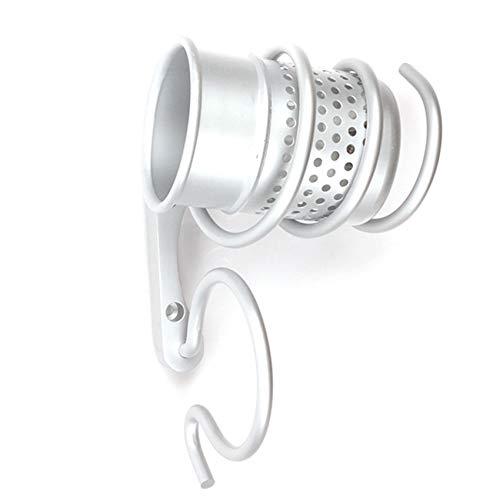 Kaned Soporte para secador de pelo, secador de pelo, estante de almacenamiento para paredes de baño