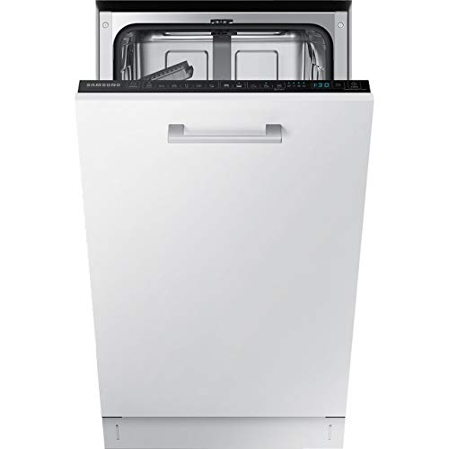 Samsung DW50R4060BB Fully Integrated Slimline Dishwasher - Black Control Panel with Fixed Door Fixing Kit
