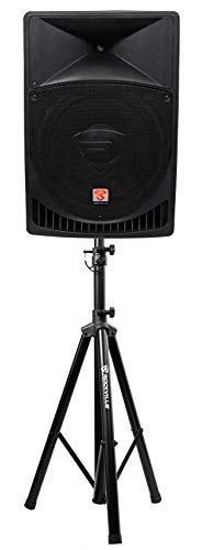 """Rockville RPG15 15"""" Professional Powered Active 1,000w 2-Way DJ PA Speaker+Stand"""