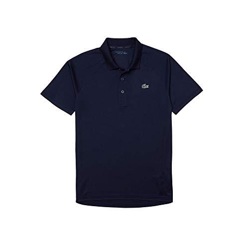 Lacoste DH3201 - Polo da uomo, a maniche corte, con 3 bottoni, vestibilità normale, Blu navy (166)., L