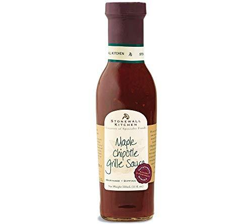 Maple Chipotle Grille Sauce von Stonewall Kitchen (330 ml) - leckere BBQ Soße mit Ahornsirup und Chipotle-Chilis - ideal zum Barbecue, zum Marinieren, als Dip oder Aufstrich