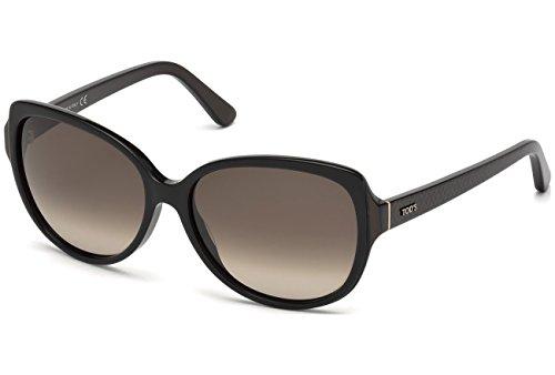 Occhiali da sole Tod's TO0160 C58 01J (shiny black / roviex)