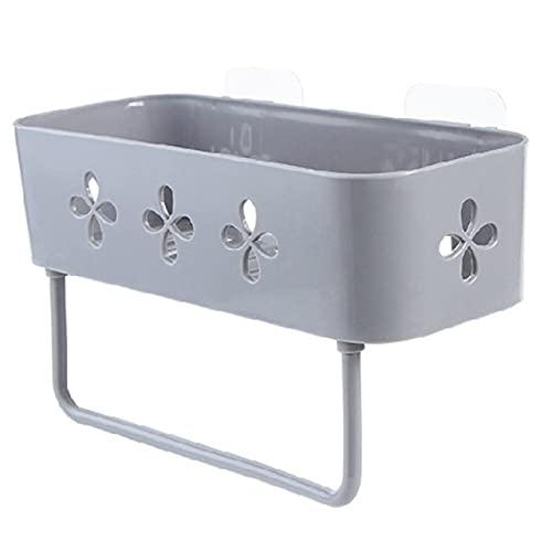 Accesorios para el baño Estantes de Almacenamiento de canastas Organizador de estantes Soporte para champú Estante de Ducha Estante de Ducha Estantes de Pared Tipo Barra Ganchos - Gris, u2