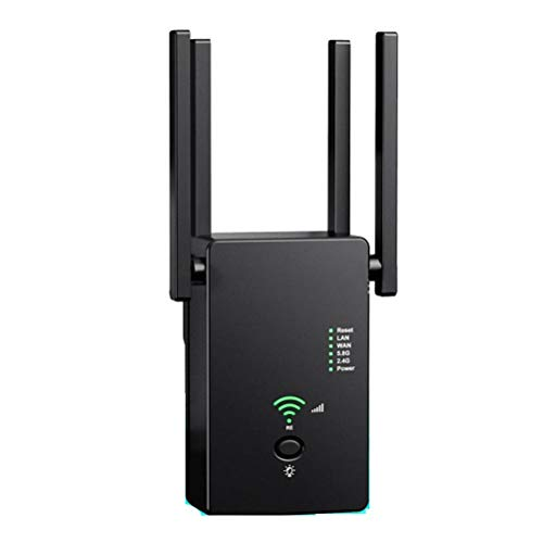 Liberación 2020 5Ghz Repetidor WiFi Inalámbrico Amplificador Wi Fi 2,4G 5Ghz Amplificador WiFi 300Mbps / 1200Mbps 5 GHz Señal WiFi Extensor De Largo Alcance