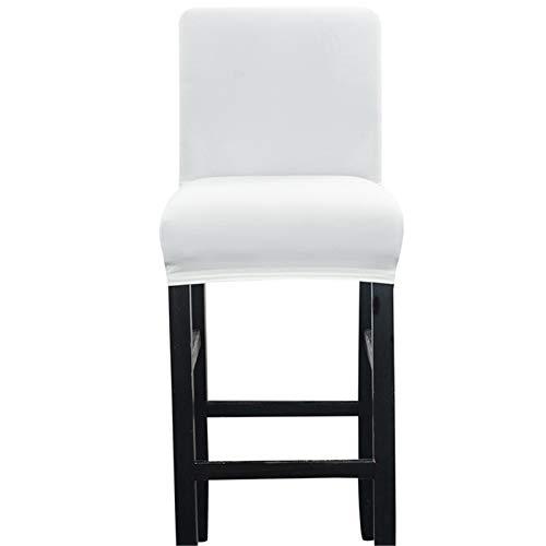 Zerci Barhocker Stuhlhusse, elastisch, für Zuhause, weich, weiß, Einheitsgröße (Nur Stuhlüberzug, Kein Stuhl)