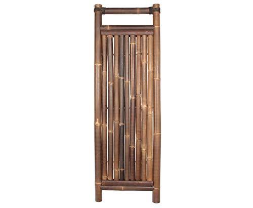 Jakarta - Valla de bambú (180 x 60 cm, de 6 a 7 cm), color negro y marrón